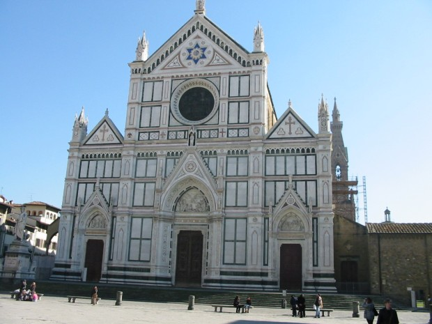 Santa Croce, where the tombs of Galileo, Dante and Machiavelli are located