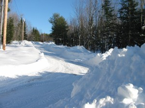 Our driveway in February
