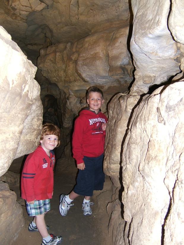 Ryan and Dana in Rushmore cave