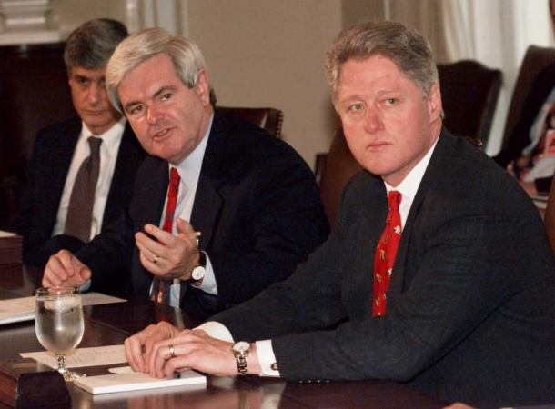 President Clinton and Speaker Newt Gingrich clashed during the last government shut down