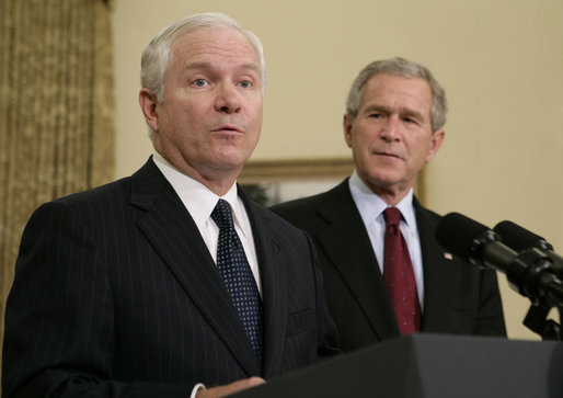 Gates served as Secretary of Defense under Bush when the President altered his Iraq policy