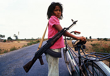 As many as 40% of child soldiers are female; rape is a constant