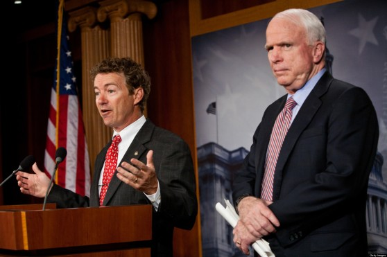 McCain's not happy with the new GOP isolationists (Paul and McCain)
