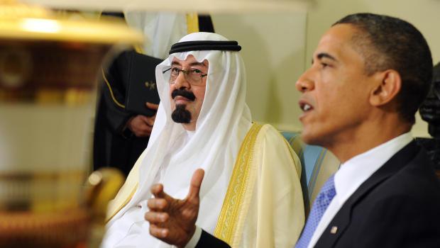 President Obama with Saudi King Abdullah