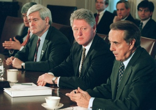 The 1996 Clinton vs. Dole election may have been decided by the 1995 government shutdown