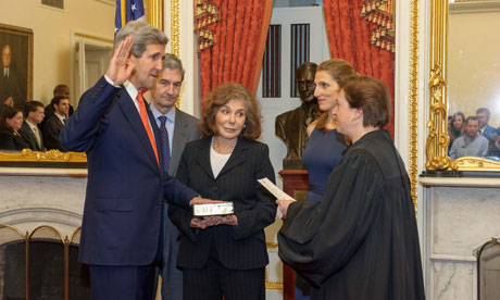 Kerry being sworn in as Secretary of State