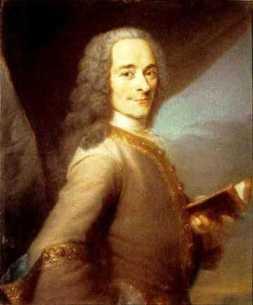 French philosopher Voltaire helped define enlightenment values