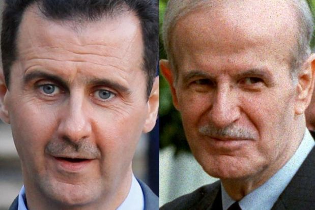 Bashir Assad follows in his father's footsteps of brutality against his own people.