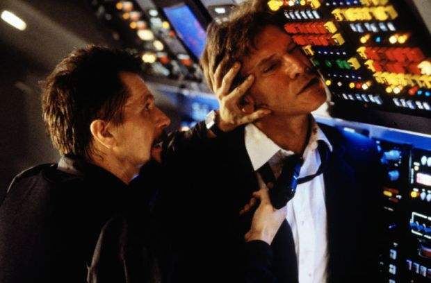 The plot of Air Force One - where Hijackers take over the President's flight and Harrison Ford (the President) gets back control, is only slightly less unrealistic than what seems now to be happening!