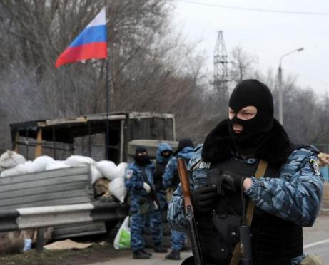 Russian soldiers reportedly control the Crimea, a part of Ukraine