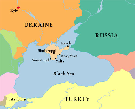 Crimea's location on the Black Sea has been of historical strategic importance to Russia.