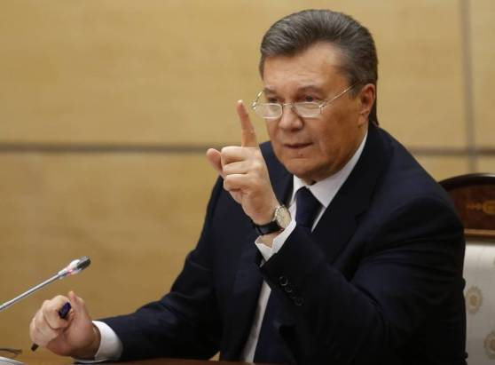 Former President Yanukovych spoke from Rustov on Don (in Russia) calling the new interim government illegitimate, saying he should remain President until December per an agreement with the EU