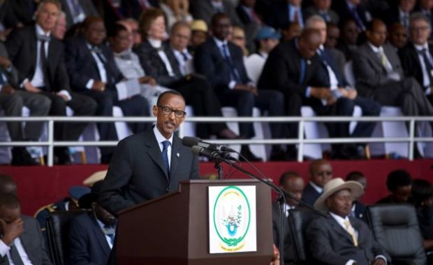 Rwandan President Paul Kagame at ceremonies marking the 20th anniversary of the start of the Rwandan genocide