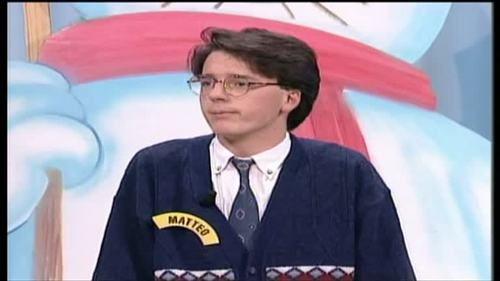 A young Matteo Renzi won about $25,000 on Italy's version of Wheel of Fortune