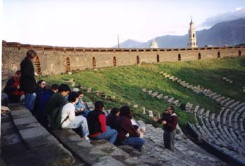 In January 2001, leading my first travel course, I gave a seminar on the EU at the Pompeii amphitheater