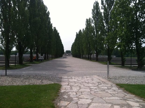 At one point these grounds at Dachau, the first concentration camp, had rows and rows of barracks for the prisoners.