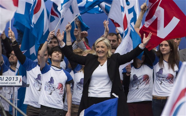 Though she tries to sound less shrill, Marine Le Pen's National Front is built on the same kind of thinking that created National Socialism.