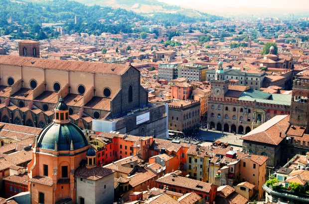 Bologna's Centro Storico - historic city center.  I spent hours exploring the streets and allys, visiting shops and observing everything I could