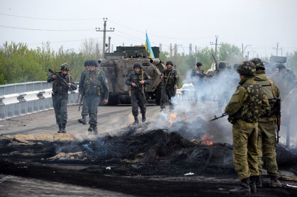 Ukrainian troops are making steady progress against Russian separatists