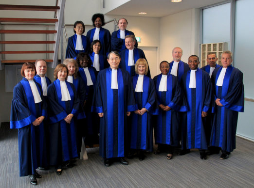 The Justices on the International Criminal Court - the court was created to deal with cases like this.