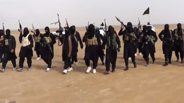 ISIS fighters in the Nineveh province of Iraq