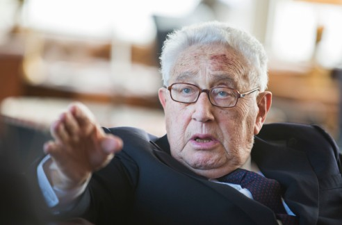 GERMANY-US-POLITICS-BIRTHDAY-MERKEL-KISSINGER