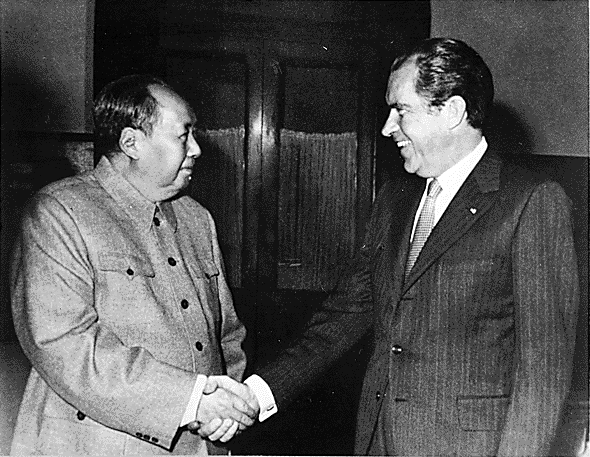 They said only Nixon could go to China - but that was set up by a secret trip by Kissinger