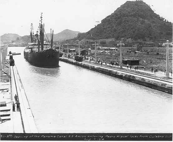 The Panama Canal opened on August 15, 1914
