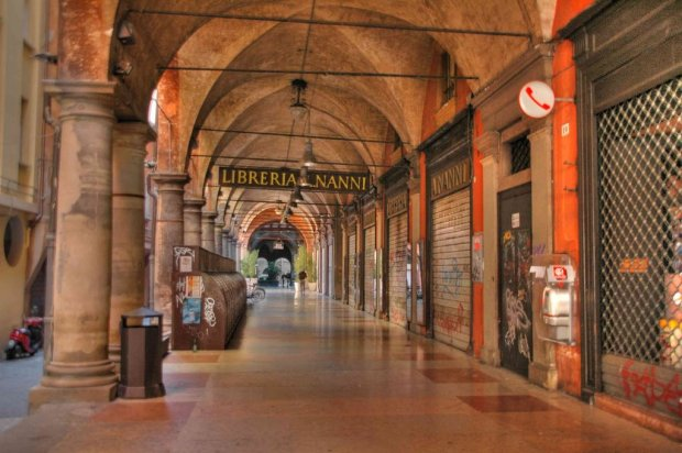 A defining feature of Bologna is the Portici - porticos so ubiquitous in the city that you can walk all through the Centro Storico on a rainy day but never get wet!