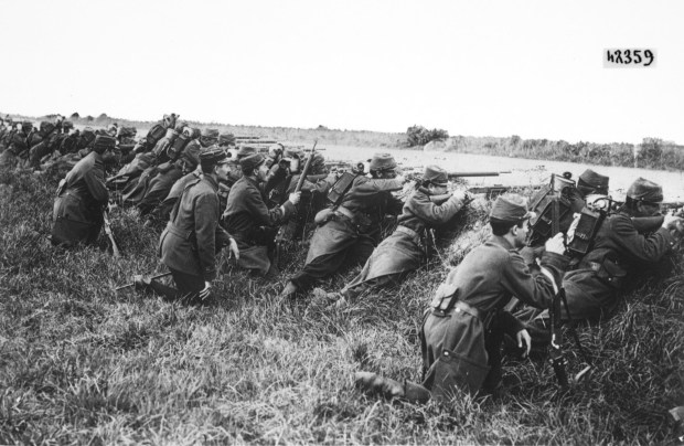 Across Europe people entered WWI with enthusiasm - they expected glory and victory.  They got years of trench war fare defined by lice, rats, disease and death.