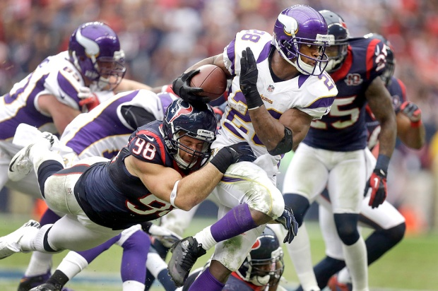 Adrian Peterson has power, speed and in the opinion of a lot of people, is the best running back in NFL history.