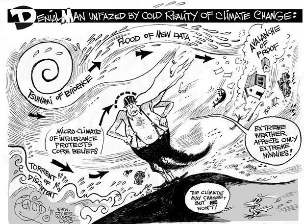 Climate change denial is irrational - doing nothing means a lot more death and economic damage