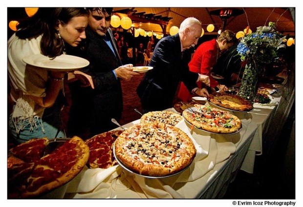Believe it or not, pizza is sometimes a choice for a wedding reception - and why not, it's the greatest food ever invented!