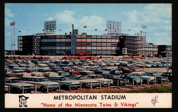 As a kid I thought the outside of the old Met stadium was absolutely beautiful!