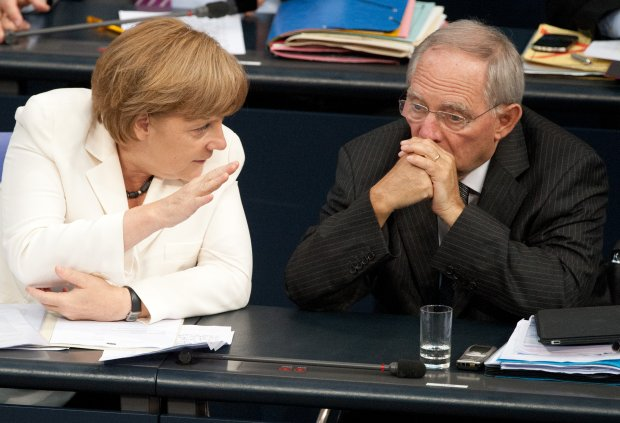 Merkel needs Finance Minister Schaeuble's support to get a deal through the Bundestag